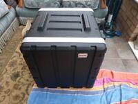 Flight Case 10u ABS with metal movable 1u Shelf