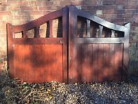Pair of Hardwood Gates