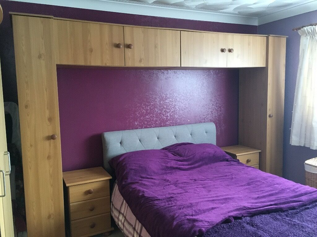Overhead Storage Bedroom Furniture Overhead Storage Unit And Two Bedside Tables In Whitchurch