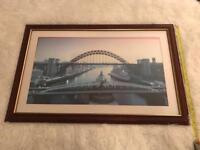 Large Framed Print Of The Tyne Bridges