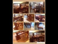 Indian import solid dining set in great condition