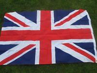 New Union / Union Jack Flag 3 ' x 5' polyester with eyelets. UK Celebration, Street Party.