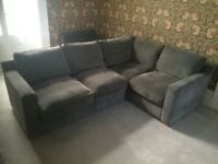 Sold - Grey corner sofa for sale 18mths old