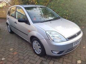 2004 FORD FIESTA 1.6 GHIA 5R MOT JULY 2017 S/HISTORY ALLOYS LADY OWNER DRIVE AWAY