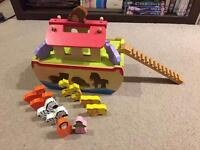 Wooden Noah's Ark set