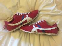 Retro red trainers