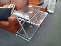 Used temperate glass computer desk