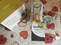 VonShef Electric Food Slicer & Mini Chopper, Multi-Functional, 150W,