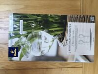 Tchibo 2 glass watering aids - brand new- an unwanted gift
