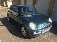 MINI ONE 1.6, FSH, RACING GREEN, VGC, 2003.