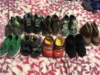 Boys shoes size 8 (9 pairs)