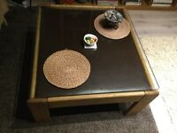 Vintage Retro Midcentry Danish Table 60-70s Modern style Leather
