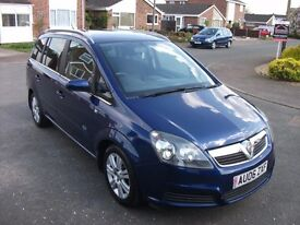 vauxhall zafira 1.8 diesel, seven seater, met blue,just arrived form main dealer, only 64000 miles,
