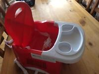 Strap to seat baby high chair.