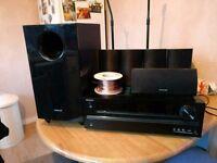 Onkyo HT-R548 5.1 Surround Sound Amp & Speakers Home Cinema