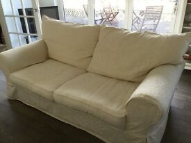 Large Two Seater Cream Settee
