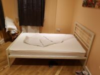 Small doublle bed with mattress 1020×2000.