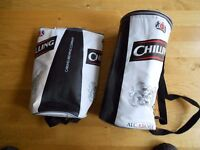 2 x Carling Lager Cooler Bags, each can carry 8 x 500ml cans