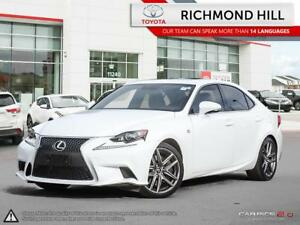 2016 Lexus IS 350 F-Sport|Red Leather|Moonroof|Powerful V6