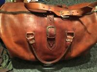 FANTASTIC HANDCRAFT VINTAGE BAG IN LEATHER ONLY £70!!!!! 50X35X25 CM