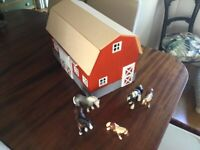 Schleich Barn and horses