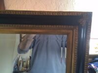 Antique /retro style very large bevel mirror measures 43 by 55 inches very good condition