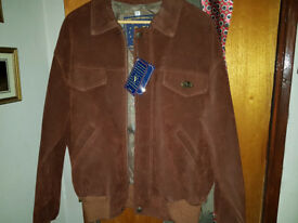 genuine Italian designer suede jacket by V