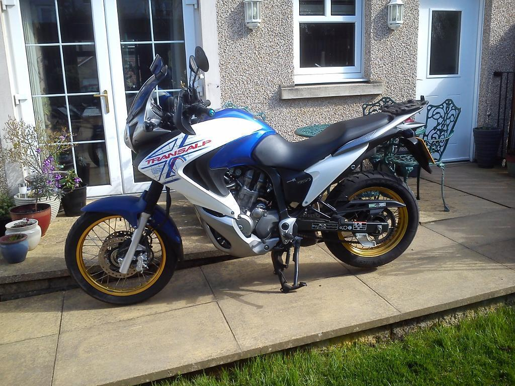 honda transalp 700 for sale in kelty fife gumtree. Black Bedroom Furniture Sets. Home Design Ideas