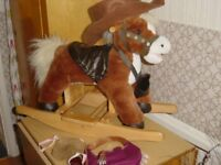 Cute Rocking Horse with Hat etc