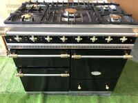 Stunning Lacanche Macon Range cooker triple oven Black and Brass appliance
