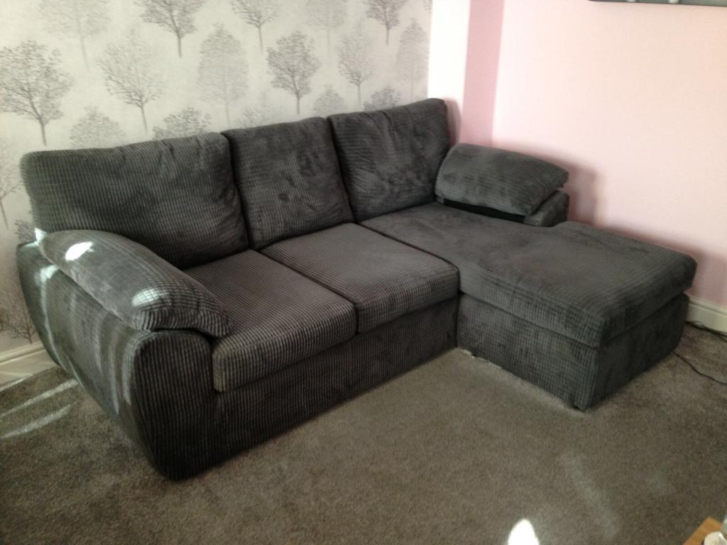 Magnificent Grey Cord Reversible Chaise Sofa In London Colney Pdpeps Interior Chair Design Pdpepsorg
