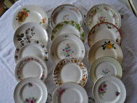 15 Assorted Vintage China Tea/Side Plates - 6 lots of 15 available