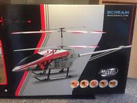 FXD RC helicopter 3.5 Channel gyroscope alloy metal frame RC helicopter..with LED lights....red