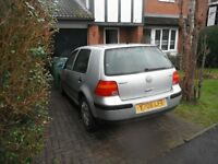 V W GOLF 1.6SE MK 4 REFLEX SILVER LA7W,BREAKING FOR SPARES,BONNET £15,MINT PASSENGER WING £25,RAD