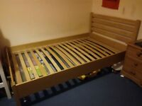 4ft pine small double bed