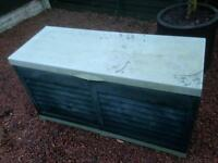 plastic outdoor storage container / box approx 4ft x 2ft x 18inch high