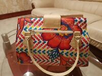 Handmade- one of piece floral handbag