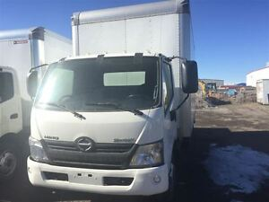 2013 Hino 195 - 16' Van Body, 210 HP, Maxon Steel Liftgate