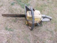 McCulloch 486 Petrol Chainsaw for Spares or Repairs. View Alphington Exeter