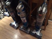 3 x cordless hoovers
