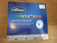 NEW Silentnight Comfort Control King Size Electric Blanket.
