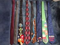 Selection of 8 ties - will sell as one lot