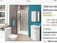 1000mm modern sliding glass cubicle shower door