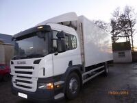 Scania P230 18 ton Meatrailer G&A 24ft Box Thermoking T/S500 rails and hoist.
