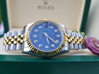 NEW! Rolex, DateJust, TwoTone with navy face & timestones. Complete with box, bag & paperwork. £140