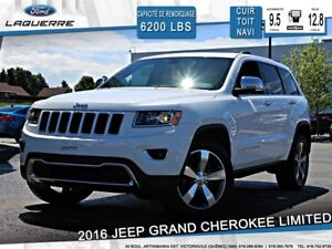 2016 Jeep Grand Cherokee LIMITED**AWD*CUIR* TOIT*NAVI*CAMERA*A/C
