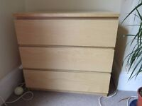 Chest of 3 Drawers, Malm IKEA x2 £25 each