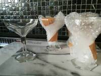 4 Crystal antique champagne glasses