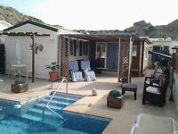 6 berth home with private pool in gador, almeria, spain.