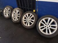 VAUXHALL 17 INCH ALLOYS AND TYRES 5 X 110